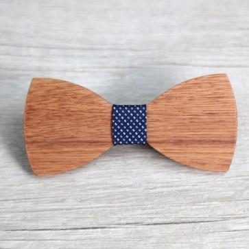 Pajarita de madera azul