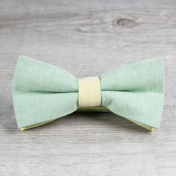 Pajarita de novio verde