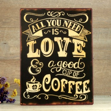 Comprar placa love coffee