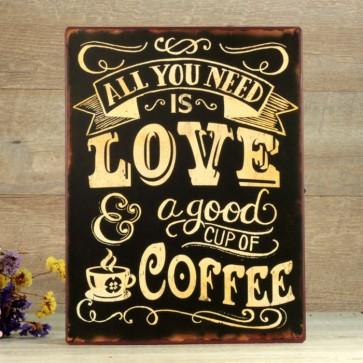 Comprar placa love coffee