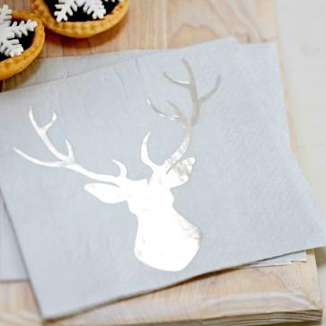 Comprar servilletas de papel plateadas