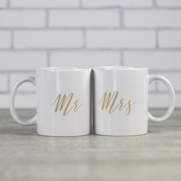 Tazas MR MRS doradas