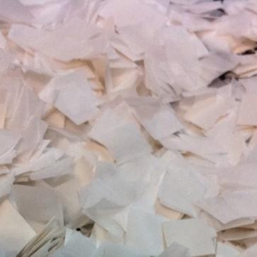 Confetti cuadrado efecto nieve 1x1 cm blanco