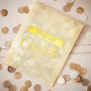 Confetti color oro