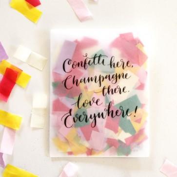 Confetti papel tissue de colores