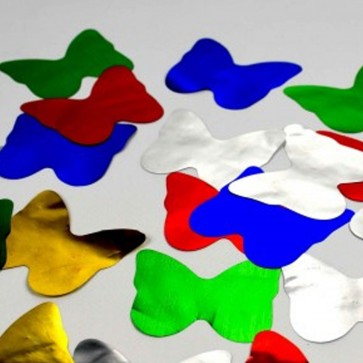 Caja de confetti mariposas metalizado