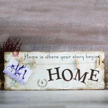 Cuadro de madera Home
