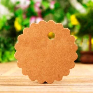 Etiquetas craft redondas