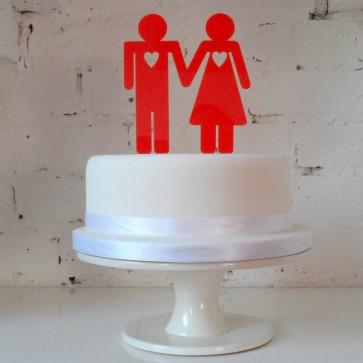 El y Ella, adorno pastel de boda minimal