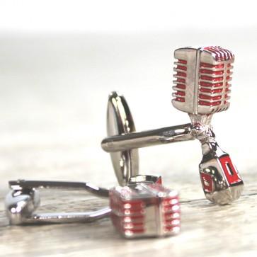 Gemelos micrófono años 50
