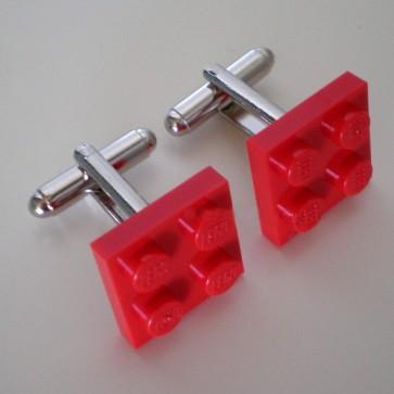 Gemelos pieza LEGO 2x2 rojo