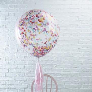 Globo gigante con confetti  dentro