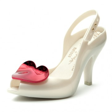 Zapatos de novia Lady Dragon Perla - Corazón Rojo