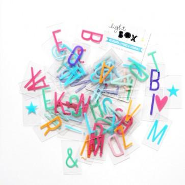Pack de letras pastel para Lightbox