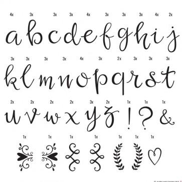 85 letras manuscritas para lightbox