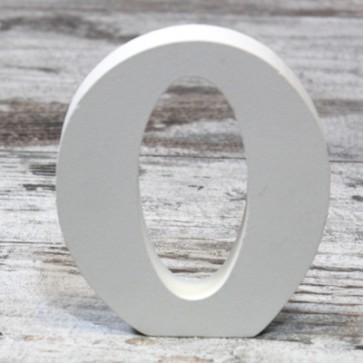 Letras de madera blancas para decoración