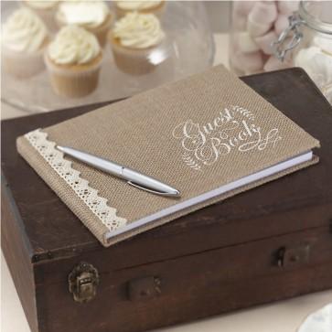 Libro de firmas estilo rústico