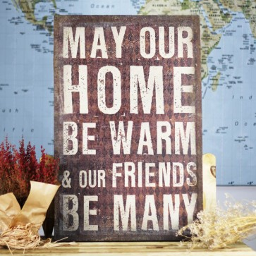 Lienzo de tela may our home be warm