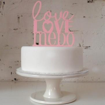 Cake topper Love love me do, decoración de pasteles
