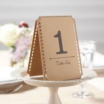 Meseros de boda estilo craft
