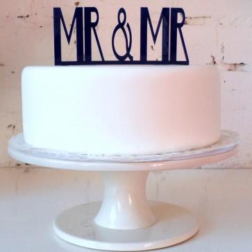 Mr Mr, adorno pastel de boda gay