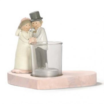 Novios pastel boda
