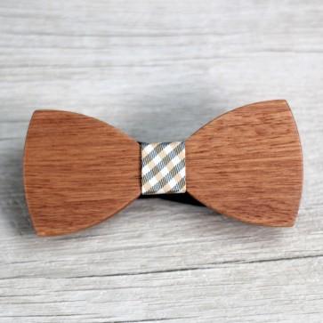 Pajarita de madera para novio