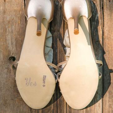 Pegatina Yes para el zapato de la novia