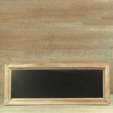 Pizarra de madera rectangular