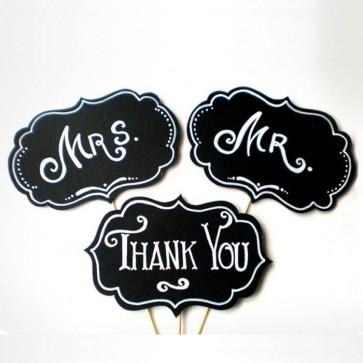 Pack de 3 pizarras Mr & Mr & Thank You