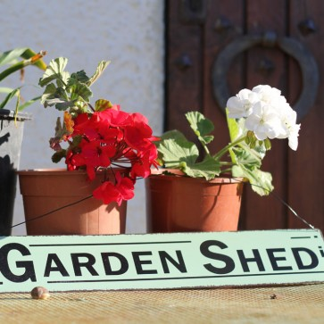 Placa de metal Garden Shed