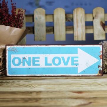 Cartel de metal One Love