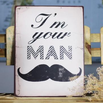 Placa de metal I'm your man