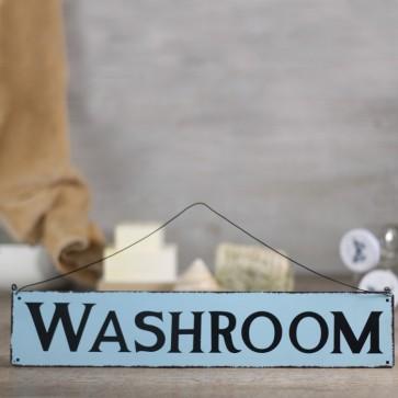 Placa de metal Washroom