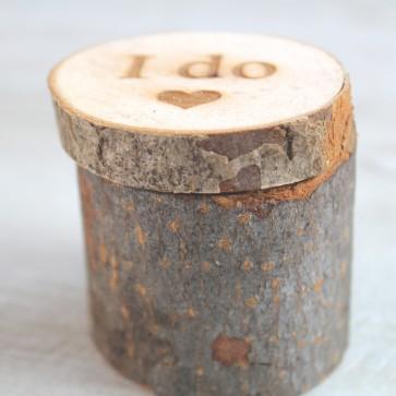 Porta alianzas tronco de madera