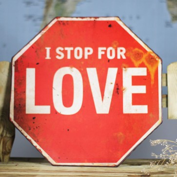 Señal stop for love