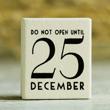 Sello do not open until 25 december