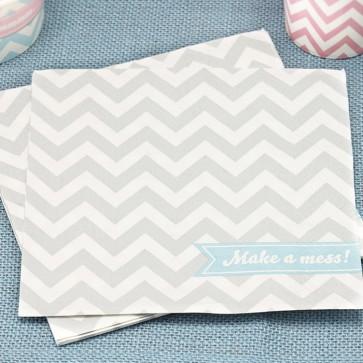 Servilletas de papel napkins chevron gris