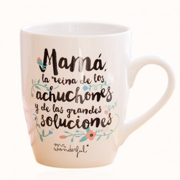 Taza mr wonderful mam la reina de los achuchones una for Decoracion tazas mr wonderful