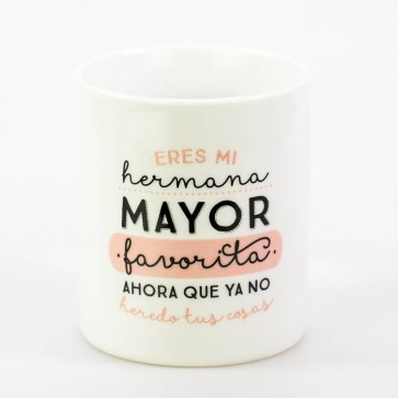 taza mrwonderful eres la hermana mayor favorita