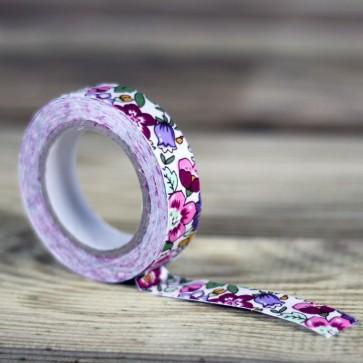 Fabric tape motivos florales