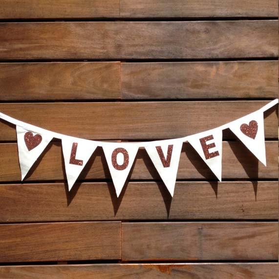 Guirnalda Con Banderines Love Una Boda Original