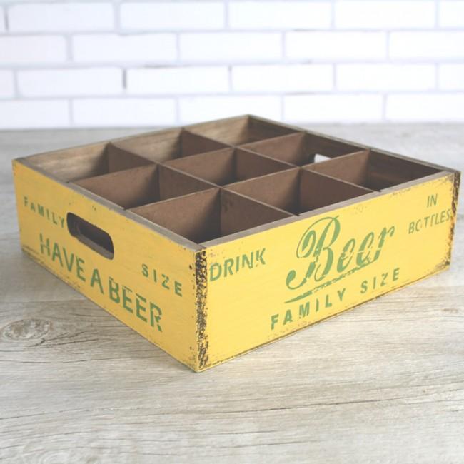 Decorar Caja De Cerveza Estilo Vintage