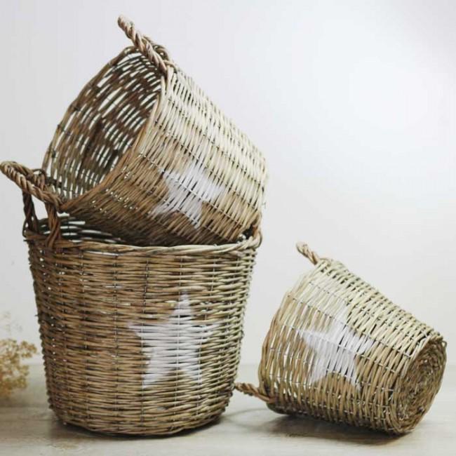 Cesta de mimbre estrella una boda original for Como aprovechar una cesta de mimbre