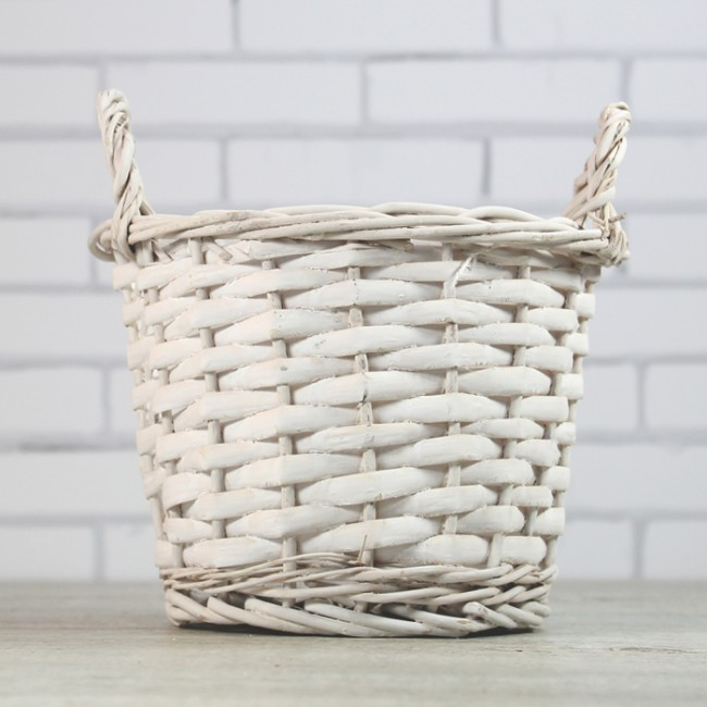cestas blancas de mimbre hacer zoom - Como Hacer Cestas De Mimbre