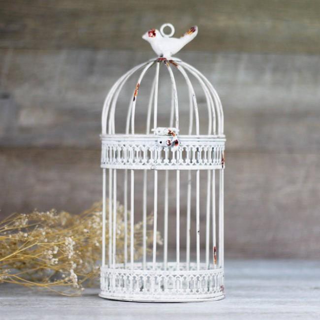 Jaulas Decoracion Comprar ~ Comprar jaula blanca envejecida decorativa