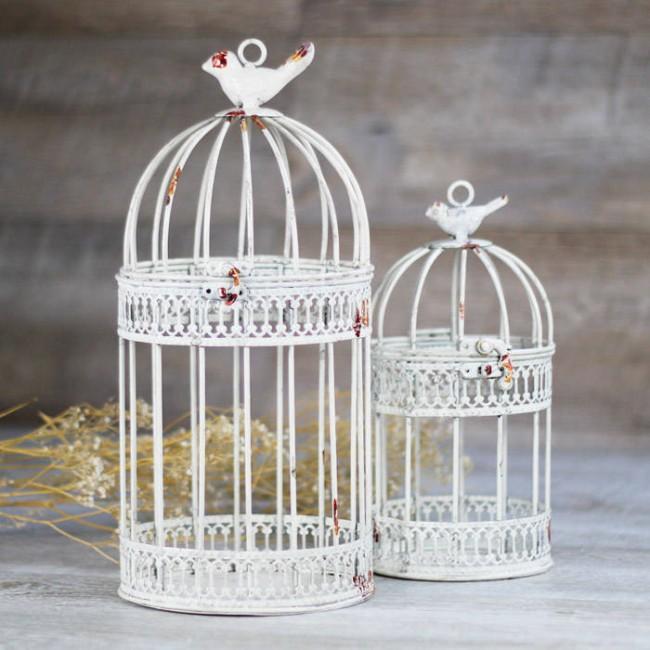 Jaulas Decoracion Comprar ~ jaula blanco envejecido jaula decorativa en color blanco con efecto