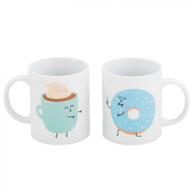 Mr wonderful set de 2 tazas y fueron felices y desayunaron for Decoracion tazas mr wonderful