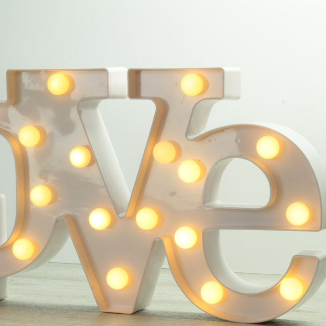 Decoracion Letras Love ~ Letras Love luminosas  Una Boda Original