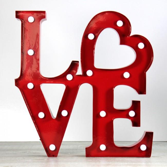 Decoracion Letras Love ~ Letras luminosas Love  Una Boda Original
